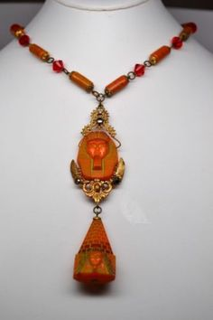 RARE ANTIQUE VINTAGE ART DECO NEIGER BROTHERS EGYPTIAN REVIVAL NECKLACE | eBay