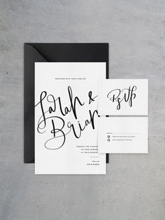Invitation and RSVP stationary by cocorrina