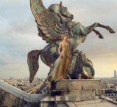 grand entrance: natalia vodianova by annie leibovitz for us vogue november 2014