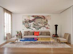 Idea cuadro misma medida sofá