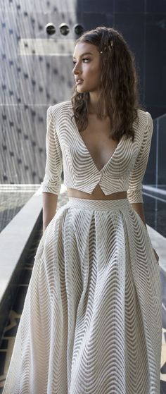 House of Ollichon loves.Two piece length sleeves a line wedding dress with pockets - Dimitrius Dalia Wedding Dress - Diamond Bridal Collection. Unconventional Wedding Dress, Stunning Wedding Dresses, Beautiful Dresses, Bridal Lace, Bridal Gowns, Wedding Gowns, Lace Wedding, Best Gowns, Bridal Separates