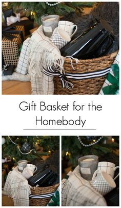 A great gift basket idea for the holiday homebody. Give them the gift of a night. A great gift basket idea for the holiday homebody. Give them the gift of a night in with coffee and Coffee Gift Baskets, Christmas Baskets, Christmas Gift Baskets, Coffee Gifts, Basket Gift, Basket Raffle, Wrapping Gift Baskets, Fall Gift Baskets, Christmas Gifts For Couples