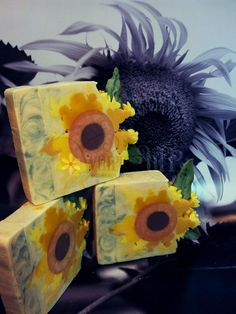 Sunflower Cold Process Soap