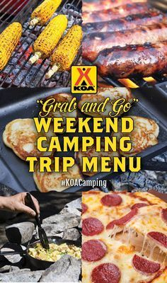 """Grab and Go"" Weekend Camping Trip Menu More"