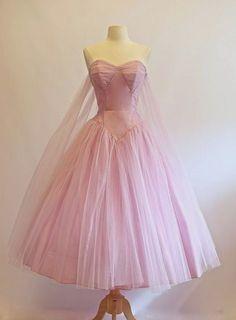 1950's Strapless Tulle Dress