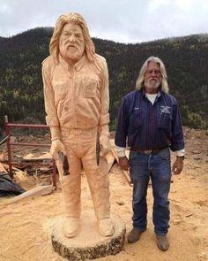 Art Sculpture En Bois, Tree Sculpture, Tree Carving, Wood Carving Art, Wood Carvings, Chainsaw Carvings, Art Beauté, Wooden Art, Outdoor Art