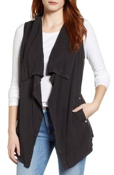 TDC Drape Front Vest available at Nordstrom Beauty, Vest Coat, Prom Looks, Office Outfits, Men Looks, Jacket Style, Looking For Women, Clothes For Women, My Style