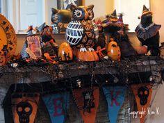 vintage halloween mantle | Vintage Halloween Blog Party