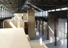 Nuovi spazi modulari creano lo spazio e lo definiscono come funzione  Andrea Oliva Architetto ~ civic buildings - tecnopolo
