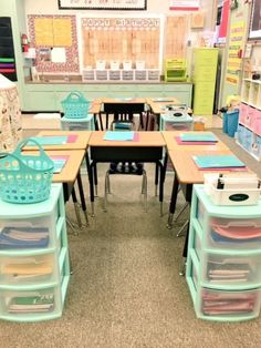 Classroom tour - 60 Gorgeous Classroom Design Ideas for Back to School – Classroom tour First Grade Classroom, Classroom Setting, School Classroom, Future Classroom, Elementary Classroom Themes, Elementary Education, Elementary Teaching Ideas, Year 1 Classroom Layout, Learning