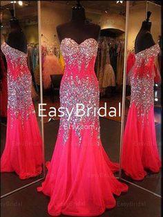 Sweetheart rhinestones sleeveless chiffon long prom dress/evening dress/pageant dress/formal dress/maxi dresses