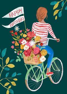 Leading Illustration & Publishing Agency based in London, New York & Marbella. Happy Birthday Art, Happy Birthday Wishes Cards, Bday Cards, Happy Birthday Images, Birthday Greeting Cards, Birthday Fun, Happy Birthday Vintage, Birthday Clipart, Happy Birthdays