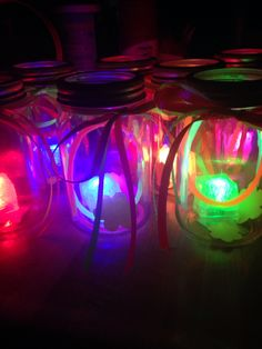 DIY glow in the dark centerpieces under $10.00
