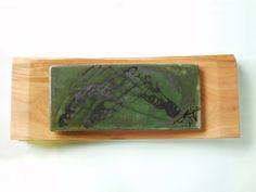 ヤマザクラ材での陶版額。(2008.03)