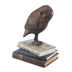 I pinned this Achla Owl Statue from the Design Report event at Joss & Main!