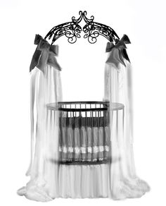 this looks so regal. I would probably have it all black but it does look elegant as it is. this looks so regal. I would probably have it all black but it does look elegant as it is. Gothic Baby, Round Cribs, Baby Bats, Baby Furniture, Furniture Stores, Furniture Dolly, Gothic House, Baby Cribs, Baby Bassinet
