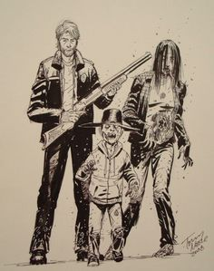 Tony Moore my favorite illustrator, The Waling Dead graphic novel, black and white, ink, shading Walking Dead Coral, The Walking Dead Poster, Walking Dead Show, Walking Dead Comics, Walking Dead Season, Walking Dead Drawings, Twd Comics, Art Puns, Collage Illustration