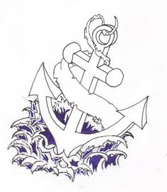 anchor and wave