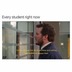 parks and recreation aubrey plaza andy dwyer april ludgate chris pratt Andy april always tired Life is pointless Nothing matters Parks N Rec, Parks And Recreation, Parks And Rec Memes, Memes Humor, Humor Quotes, Funny Humor, Stupid Funny, The Funny, Funny Stuff