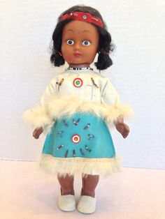 1960's Native American Indian Girl Squaw by BarnyardBabeVintage