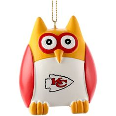 "Kansas City Chiefs 2.5"" Owl Ornament"