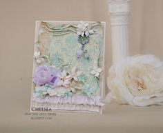 Crafting Life's Pieces: Shabby pastel card