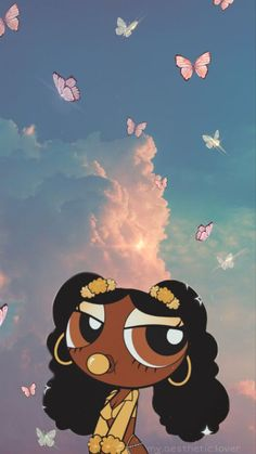 Girl Iphone Wallpaper, Bad Girl Wallpaper, Iphone Wallpaper Tumblr Aesthetic, Black Aesthetic Wallpaper, Disney Wallpaper, Cartoon Pics, Cute Cartoon Wallpapers, Cartoon Art, Black Girl Cartoon
