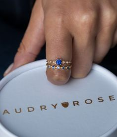 Blue Sapphire Stack - Audry Rose