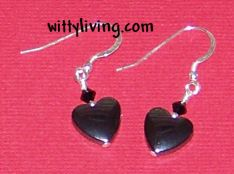 Hematite Heart Bead Earrings