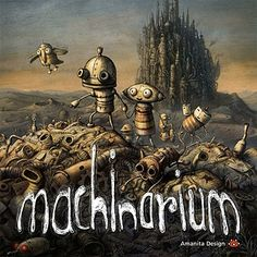 Machinarium. A brilliant puzzle adventure game. I played this on iPad...think a phone would be too small...but maybe that's just my fat fingers!