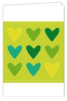 Klappkarte Herzensgrüße zum Prickeln - Grün