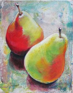 www.sheiladiemert.com  I've done many still life paintings including: apples, bananas, lemons, pears, peaches, persimmons, pomegranates, mushrooms, peppers, onions, turnips, radicchio, radishes, acorn squash, watermelon, and eggplants. This brings an appreciation for the beauty of fruits and vegetables--even turnips!