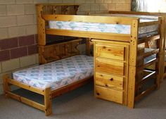 Maybe someday...Bookcase Bunk Bed. Each of these bunk beds is hand built in our own woodshop ...  actionwood.com
