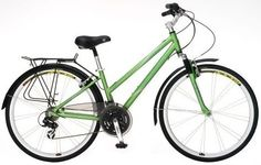 Cool ladies hybrid Shwinn(g) bike in Green!