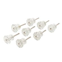 Set of 8 Small Octagonal Glass Knobs