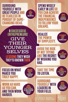Lessons to be learnt when young.