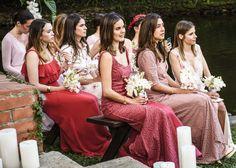 A few of my bridesmaids, Adriana Aparicio, Lucia Echavarria, Giovanna Campagna, Cloclo Echavarría, and Tathiana Monacella, watching the ceremony.