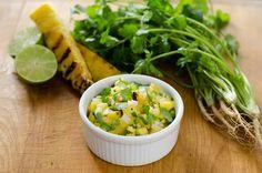 Grilled Pineapple Salsa  #CookEatPaleo