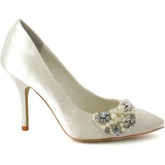 ff81b52de5 Menbur Ivory Pearl-Accent Rhinestone Pump (€40) ❤ liked on Polyvore  featuring