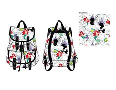 Disney Little Mermaid Allover Print Knapsack Backpack Bookbag New *** You can find out more details at the link of the image.