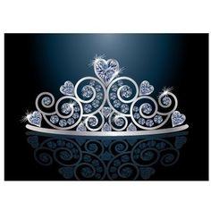 Tiara og en kongehatt.  Kritttavle med navn og dette skal gjestene ta på seg under bildet når de kommer.