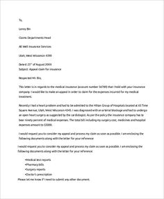 Letter to Appeal a Medical Claim Denial (with Sample ...