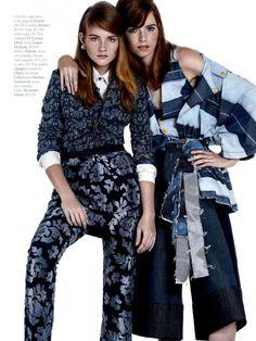 Amanda, Bruna + More dons denim style for Marie Claire Brasil July 2015 by Rafael Pavarotti