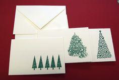 Weihnachtskarten - 2013 -Weihnachtskarten 3erSet-Tannenbaum - ein Designerstück von paperfun bei DaWanda