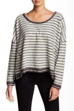 Free People |         Striped Dolman Pullover Sweater | Nordstrom Rack