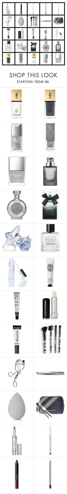 """""""Artemis Makeup 1.0"""" by tempermental-teen ❤ liked on Polyvore featuring beauty, Yves Saint Laurent, Christian Dior, Burberry, Butter London, Gucci, Boadicea the Victorious, Torrid, Thierry Mugler and Tom Daxon"""