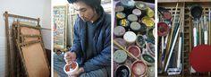 Art supplies for Tibetan thangka