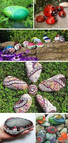 Камушки для сада - камни в саду, декор для дачного участка, рокарий, садовые дорожки,