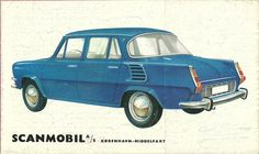 Skoda Back cover of a brochure selling Skodas in Denmark in the mid sixties Mini Trucks, Car Advertising, Old Signs, Car Car, Sport Cars, Old Cars, Vintage Ads, Cars And Motorcycles, Touring