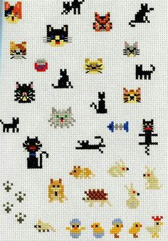 Thrilling Designing Your Own Cross Stitch Embroidery Patterns Ideas. Exhilarating Designing Your Own Cross Stitch Embroidery Patterns Ideas. Tiny Cross Stitch, Cat Cross Stitches, Cross Stitch Animals, Cross Stitch Charts, Cross Stitch Designs, Cross Stitching, Cross Stitch Patterns, Loom Patterns, Cat Embroidery